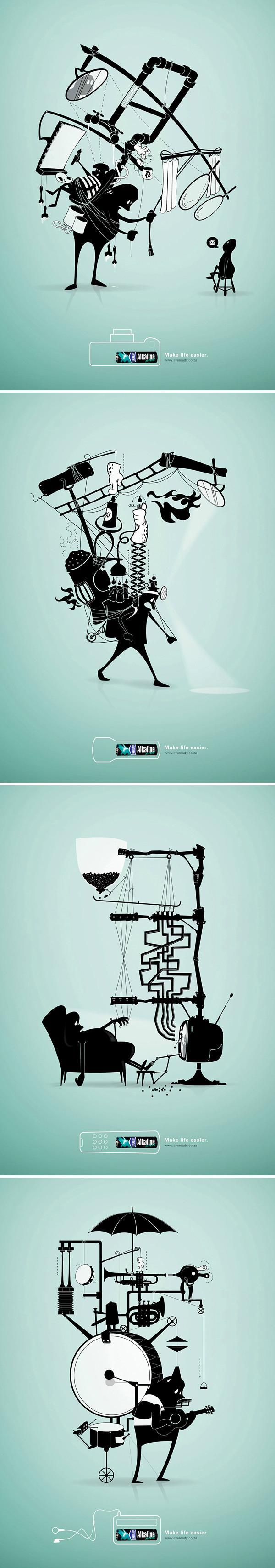 电池创意海报设计,如果没有电池