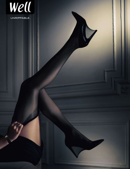 well丝袜创意广告 性感与结实耐磨的结合