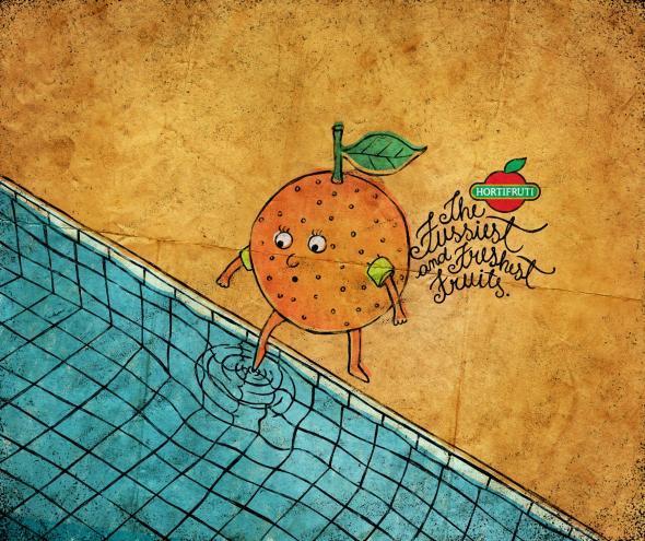 Hortifruti果汁创意广告设计