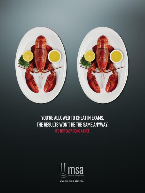 国外厨师培训学校创意平面广告