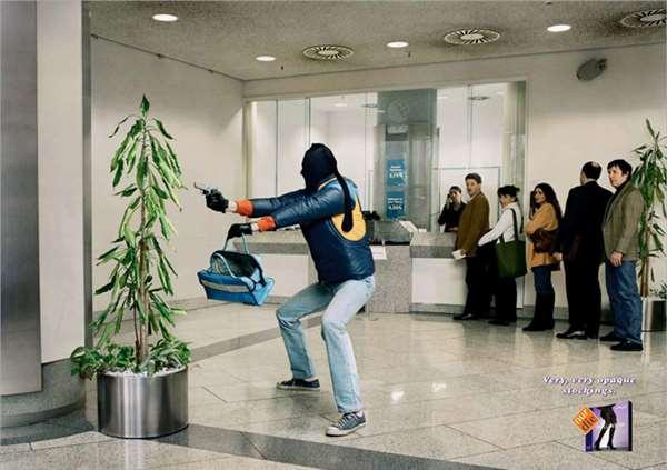 国外长筒袜广告创意