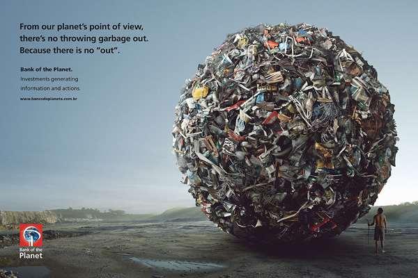 亚马逊星球银行创意广告垃圾处理