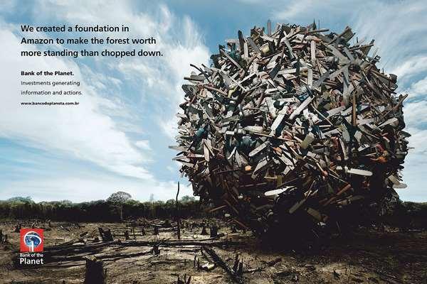 亚马逊星球银行创意广告森林价值
