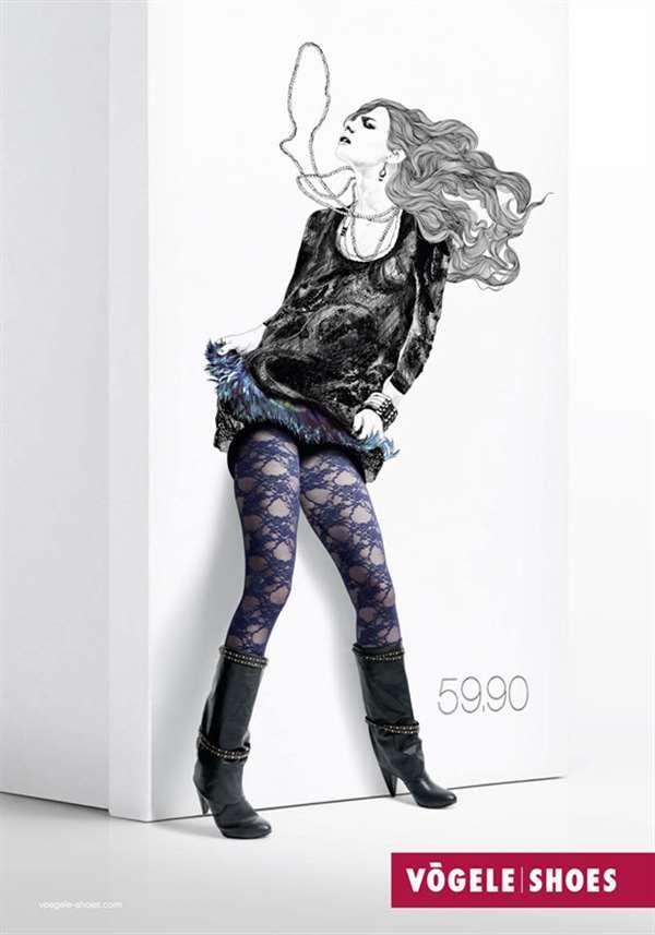 国外品牌女鞋广告设计