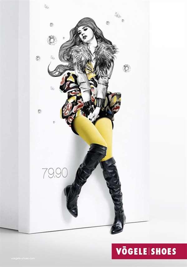 国外女鞋广告设计