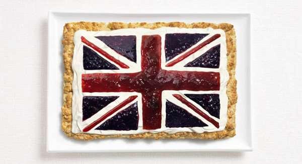 英国:司康(英式烤饼),奶油,果酱