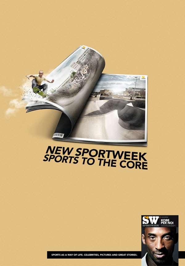 米兰体育报创意广告欣赏