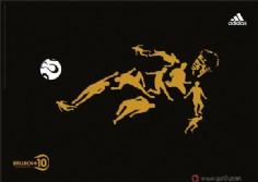 Adidas足球主题广告创意