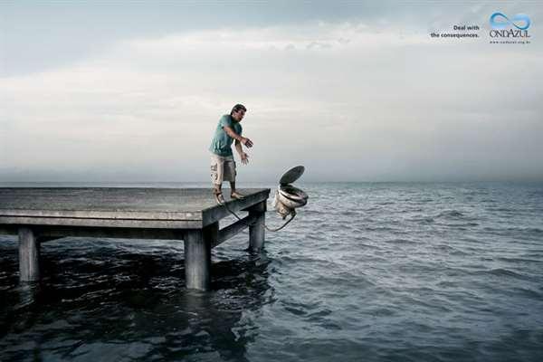 污染环境的同时,也是等于自杀。