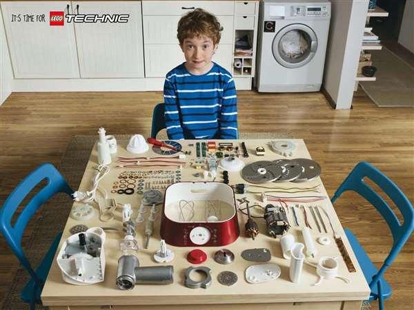 乐高Lego Technic广告创意:厨房篇
