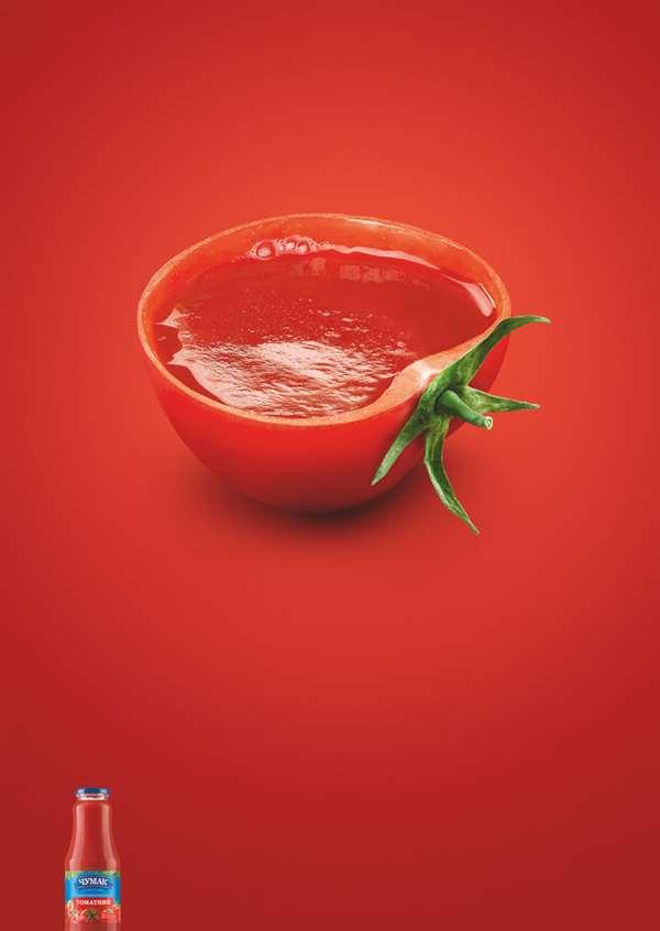 西红柿果汁饮料广告创意