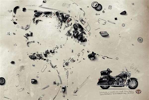 哈雷机车广告创意