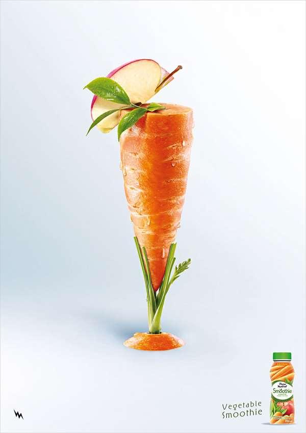 胡萝卜汁饮料广告
