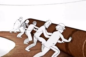 爱马仕复古范儿趣味动画广告短片《时光梭织机》