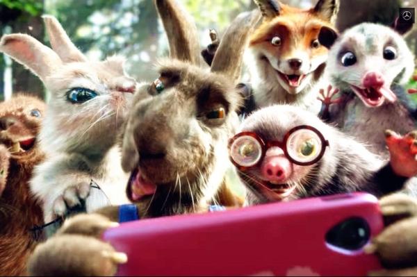 奔驰超级碗爆笑动画广告《新龟兔赛跑》